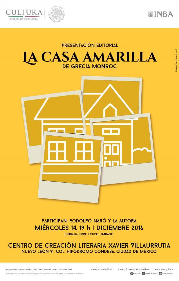 Bol 1701 la casa amarilla primera novela de la joven for Casa amarilla musica